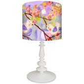Oopsy Daisy Cherry Blossom Birdies Purple Lamp