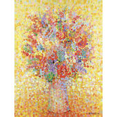 Floral Bouquet Yellow Wal Art