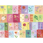 A to Z Flowers Wall Mural