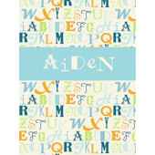 Alphabet Mix Wall Canvas Art