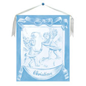 Blue Cherub Canvas Wall Hanging