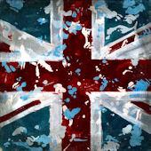 British Flags Wall Canvas Art