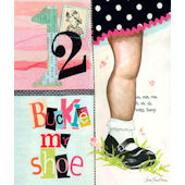1, 2 Buckle My Shoe Girl Canvas Wall Art