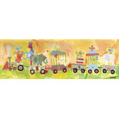 Circus Train Canvas Wall Art