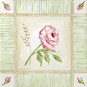 Cottage Rose Right Leaning Canvas Wall Art