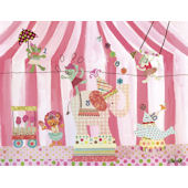 Counting Candy Alphabet Circus Canvas Wall Art