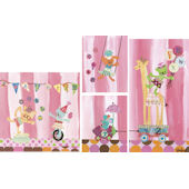 Counting Candy Alphabet Circus Canvas Art Set
