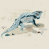 Spiny Lizard Wall Canvas Art
