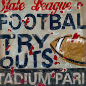 Football Try Outs Wall Canvas Art