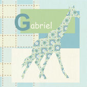 Gentle Giraffe Wall Canvas Art