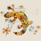 Gila Monster Wall Canvas Art