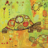 Hello Turtles Canvas Wall Art