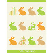 Hop Hop Hop Wall Canvas Art