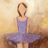 Belle Of The Ballet Purple Canvas Wall Art