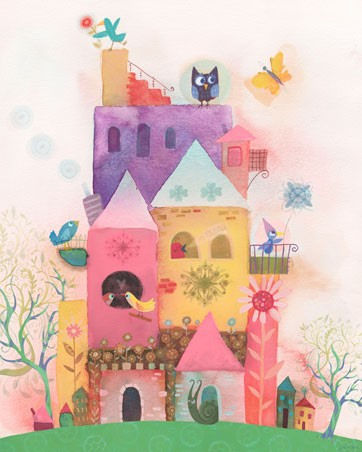 Bird House Paradise Canvas Wall Art