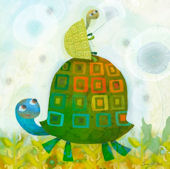 Turtle Wishes Canvas Wall Art
