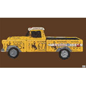 License Plate Pickup Truck Wall Canvas Art