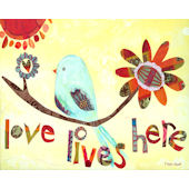 Love Lives Here Wall Canvas Art