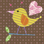 Mod Chick Chocolate Canvas Wall Art