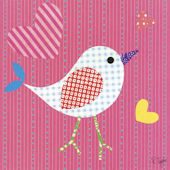 Mod Chick Hot Pink Canvas Wall Art