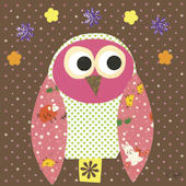 Mod Owl Chocolate Canvas Wall Art