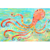 Octavia The Octopus Canvas Wall Art