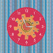 Ready Robots Single Canvas Art with Clock