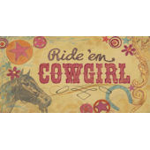 Ride Em Cowgirl Wall Canvas Art