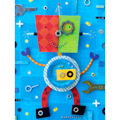 Robot Treasures Wall Canvas Art