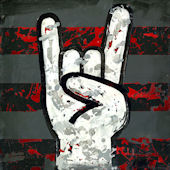 Rock and Roll Hands Wall Canvas Art