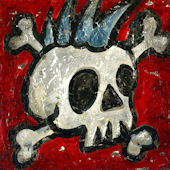 Rock and Roll Skull Wall Canvas Art