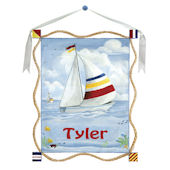 Sailboat  Canvas Wall Hanging