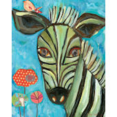 Seriously Striped Zebra Wall Canvas Art