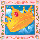 Storybook Crown Canvas Wall Art
