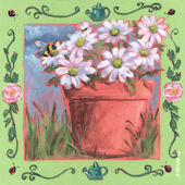 Summer Watering Can Canvas Wall Art