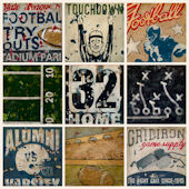 Superbowl Bound Cream Wall Canvas Art