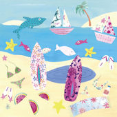 Surf n Sun Girls Canvas Wall Art