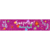 Surprise Girl Birthday Banner