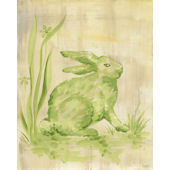 Toile Bunny Green Wall Canvas Art