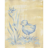 Toile Chickie Blue Wall Canvas Art