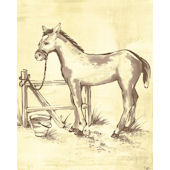 Toile Horse Wall Canvas Art
