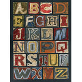Vintage Alphabet Wall Canvas Art