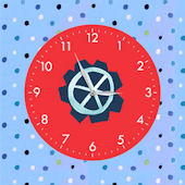 Wheels Single Canvas Art with Clock