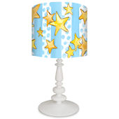 Oopsy Daisy Dots and Stars Lamp Shade and Base