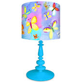Oopsy Daisy Exotic Butterflies Lamp Shade and Base
