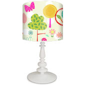 Oopsy Daisy Fluorescent Forest Lamp Shade and Base
