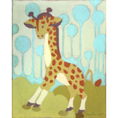 Gigi Giraffe Wall Canvas Art