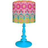 Oopsy Daisy Graphic Blooms Lamp Shade and Base