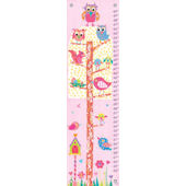 Little Owls Canvas Growth Chart