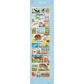 Modern Alphabet Blue Canvas Growth Chart